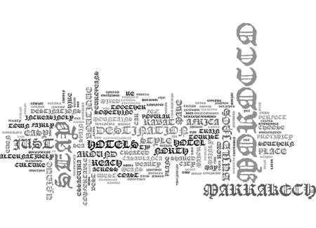A QUICK GUIDE TO MOROCCO TEXT WORD CLOUD CONCEPT
