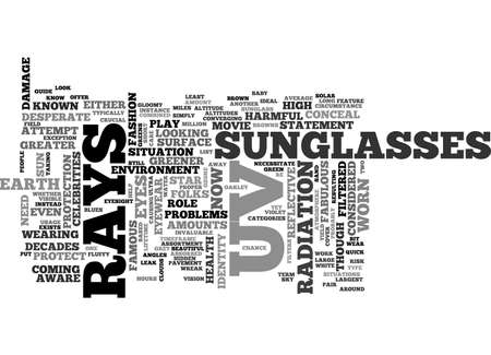A QUICK GUIDE TO SUNGLASS WEAR WHY WHEN AND WHERE TEXT WORD CLOUD CONCEPT