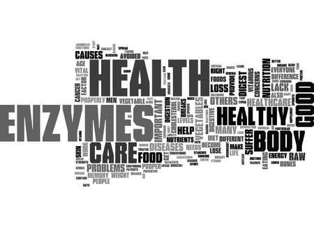 A QUICK GUIDE TO VEGETABLE ENZYMES TEXT WORD CLOUD CONCEPT
