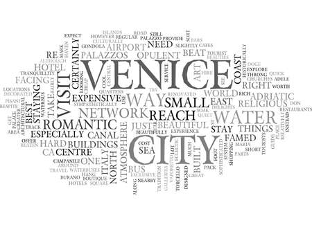 A QUICK GUIDE TO VENICE TEXT WORD CLOUD CONCEPT