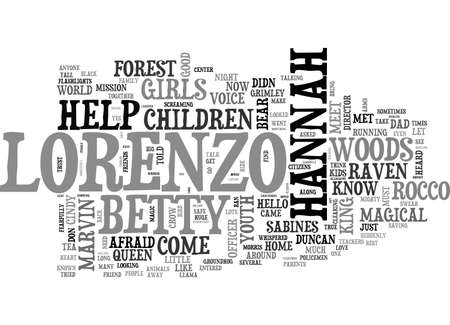 A RAVEN NAMED MARVIN TEXT WORD CLOUD CONCEPT Illustration