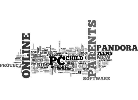A REMINDER TO PARENTS HOLIDAY GIFTS CAN OPEN PANDORA S BOX PROTECT YOUR CHILD S NEW PC TEXT WORD CLOUD CONCEPT