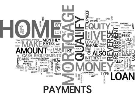 qualify: A REVERSE MORTGAGE CAN MAKE YOUR RETIREMENT EASIER TEXT WORD CLOUD CONCEPT
