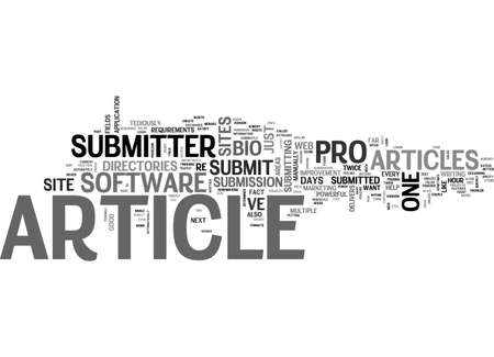 A REVIEW OF ARTICLE SUBMITTER PRO TEXT WORD CLOUD CONCEPT Çizim