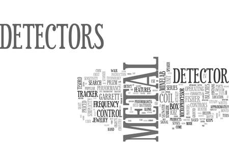 A REVIEW OF POPULAR METAL DETECTOR PRODUCTS TEXT WORD CLOUD CONCEPT Illustration