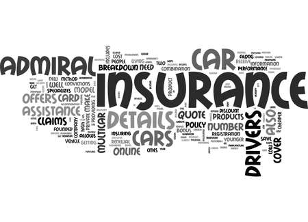 admiral: A REVIEW ON ADMIRAL CAR INSURANCE TEXT WORD CLOUD CONCEPT