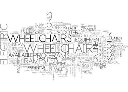 電動車椅子やスクーター テキスト単語の雲概念についてのレビュー  イラスト・ベクター素材