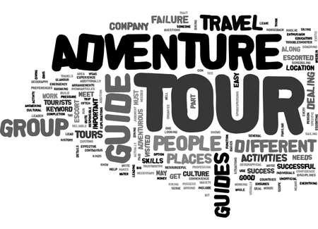 ADVENTURE TOUR GUIDE TEXT WORD CLOUD CONCEPT