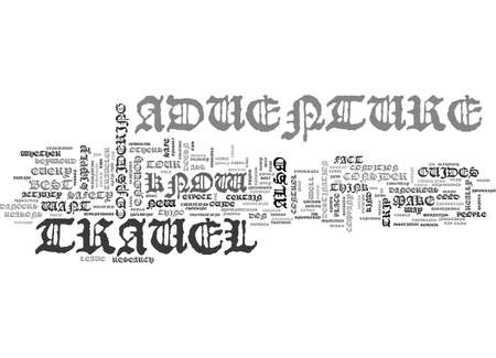 ADVENTURE TRAVEL TEXT WORD CLOUD CONCEPT