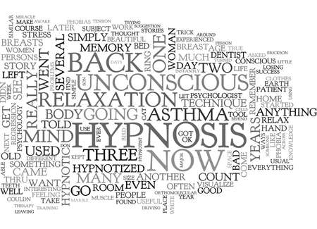 ADVENTURES WITH HYPNOSIS TEXT WORD CLOUD CONCEPT Illustration