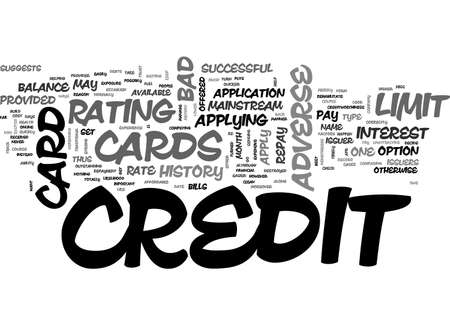 ADVERSE CREDIT CREDIT CARDS TEXT WORD CLOUD CONCEPT Imagens - 79495430