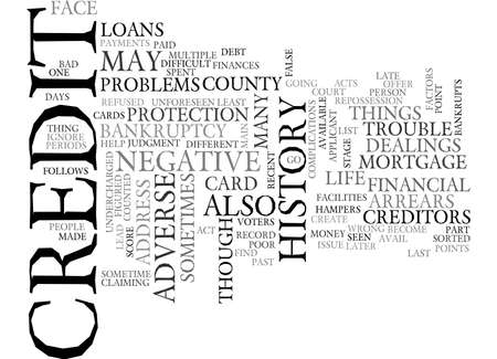 adverse: ADVERSE CREDIT HISTORY TEXT WORD CLOUD CONCEPT