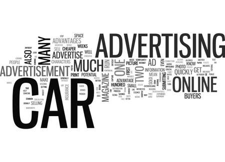 ADVERTISE YOUR CAR TEXT WORD CLOUD CONCEPT
