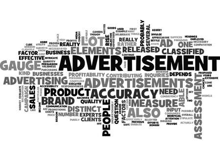ADVERTISEMENT HOW EFFECTIVE IS IT TEXT WORD CLOUD CONCEPT