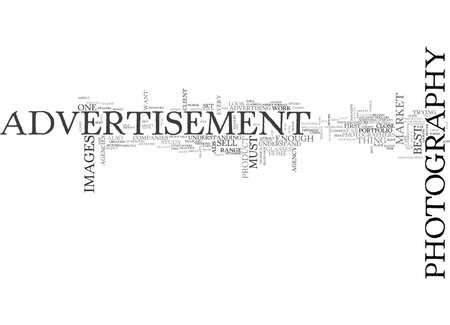 광고 사진 텍스트 단어 구름 개념