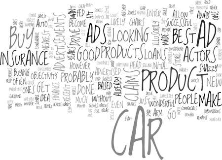 snazzy: ADVERTISEMENTS THAT DRIVE YOU TO THE STORES TEXT WORD CLOUD CONCEPT Illustration