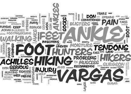 ADVICE FOR HIKERS AND HUNTERS TEXT WORD CLOUD CONCEPT Illustration
