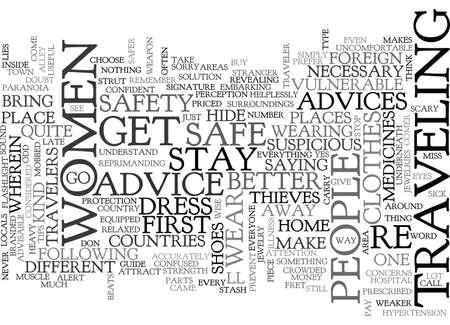 女性出張テキスト WORD クラウドの概念はのためのアドバイス  イラスト・ベクター素材