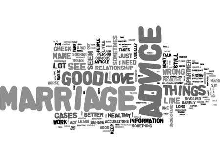ADVICE TO KEEP YOUR MARRIAGE HEALTHY TEXT WORD CLOUD CONCEPT