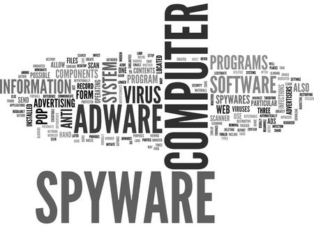 ADWARE AND SPYWARE ANTI VIRUS TEXT WORD CLOUD CONCEPT