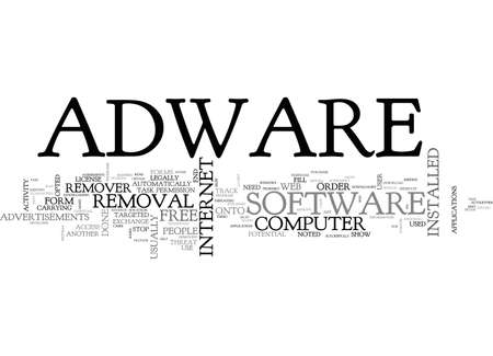ADWARE EXPLAINED TEXT WORD CLOUD CONCEPT