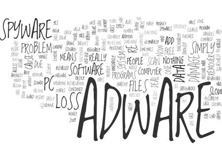 ADWARE IS A PAIN BUT YOU CAN DEAL WITH FAST TEXT WORD CLOUD CONCEPT
