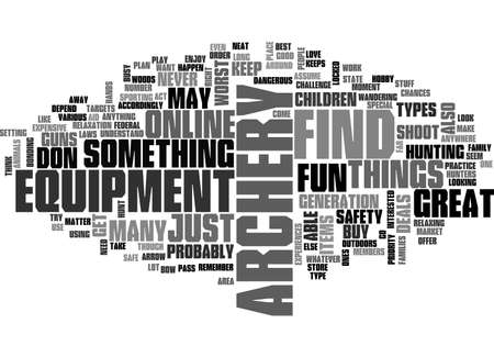 hunters: ARCHERY EQUIPMENT TEXT WORD CLOUD CONCEPT