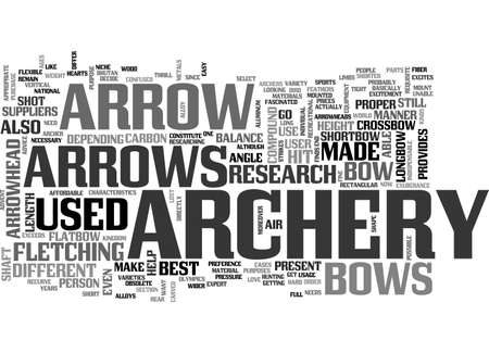 ARCHERY RESEARCH TEXT WORD CLOUD CONCEPT