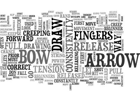 ensuring: ARCHERY TIPS TEXT WORD CLOUD CONCEPT