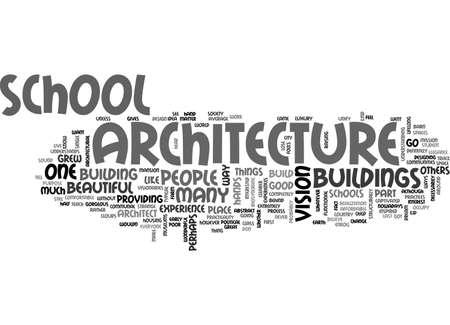 ARCHITECTURE SCHOOL TEXT WORD CLOUD CONCEPT