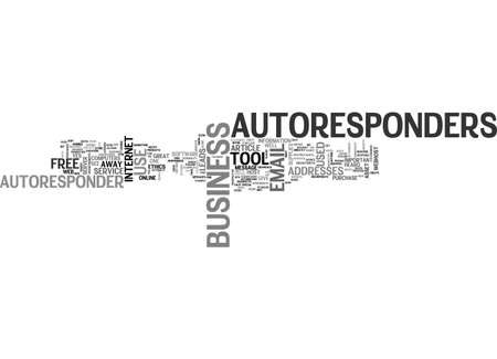 ARE AUTORESPONDERS AN IMPORTANT ASSET TO YOUR BUSINESS TEXT WORD CLOUD CONCEPT Imagens - 79493898