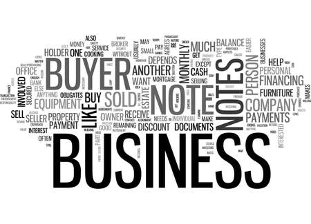 ARE BUSINESS BUYER NOTES PROFITABLE TEXT WORD CLOUD CONCEPT