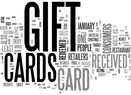 redeeming: ARE GIFT CARDS THE BEST GIFT TEXT WORD CLOUD CONCEPT