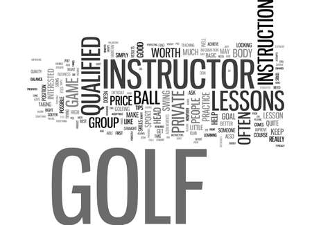 ARE GOLF LESSONS WORTH THE PRICE TEXT WORD CLOUD CONCEPT