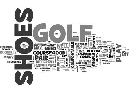 ARE GOLF SHOES ESSENTIAL TO PLAY GOLF TEXT WORD CLOUD CONCEPT