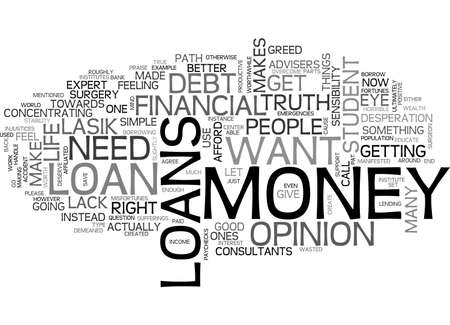ARE LOANS RIGHT FOR YOU TEXT WORD CLOUD CONCEPT