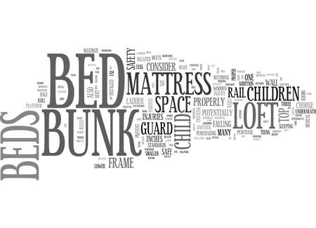 sleeper: ARE LOFT BEDS BUNK BEDS SAFE TEXT WORD CLOUD CONCEPT