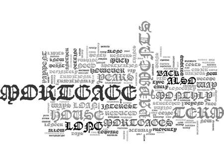 ARE LONG TERM MORTGAGES FOR YOU TEXT WORD CLOUD CONCEPT
