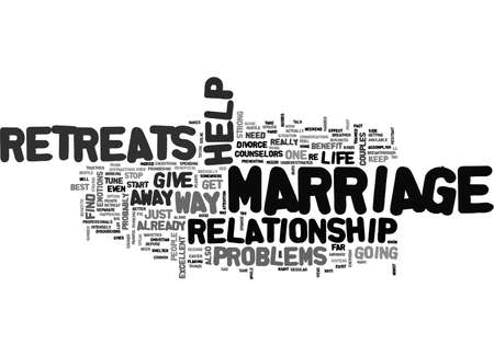 ARE MARRIAGE RETREATS THE WAY TO STOP YOUR DIVORCE TEXT WORD CLOUD CONCEPT 向量圖像
