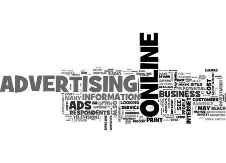 ARE ONLINE ADS WORTH THE COST TEXT WORD CLOUD CONCEPT