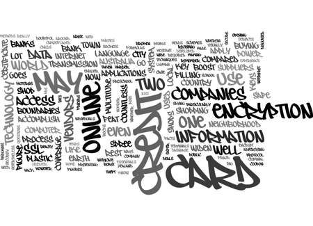 ARE ONLINE CREDIT CARDS SAFE TEXT WORD CLOUD CONCEPT