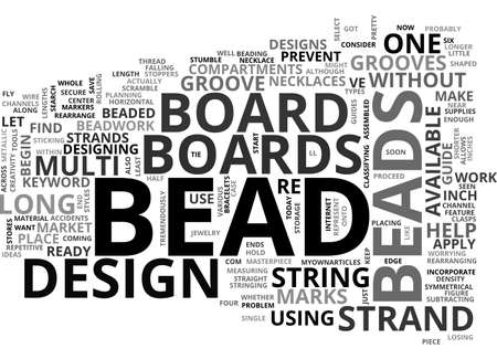 BEAD BOARD TEXT WORD CLOUD CONCEPT