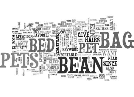 BEAN BAG BED FOR PETS TEXT WORD CLOUD CONCEPT