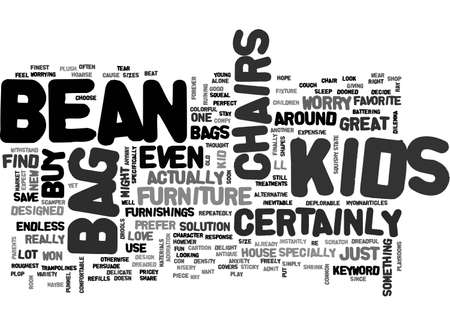 BEAN BAG CHAIRS FOR KIDS TEXT WORD CLOUD CONCEPT