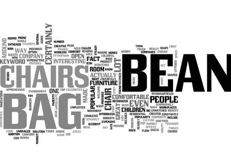 BEAN BAG CHAIRS TEXT WORD CLOUD CONCEPT 向量圖像