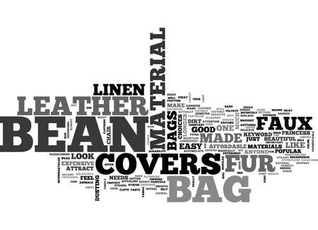 BEAN BAG COVERS TEXT WORD CLOUD CONCEPT