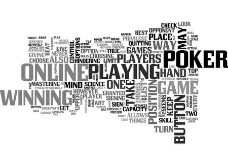 BEAT YOUR ONLINE POKER OPPONENT TEXT WORD CLOUD CONCEPT