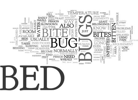 distressing: BED BUGS BITE TEXT WORD CLOUD CONCEPT