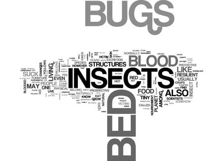 resilient: BED BUGS INSECT TEXT WORD CLOUD CONCEPT