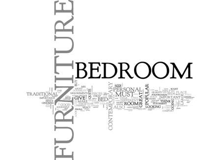 BEDROOM FURNITURE MAKE YOUR OWN PERSONAL STATEMENT TEXT WORD CLOUD CONCEPT